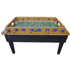 Foosball Game Sports Table from Italy on Handmade Wooden Base, Midcentury