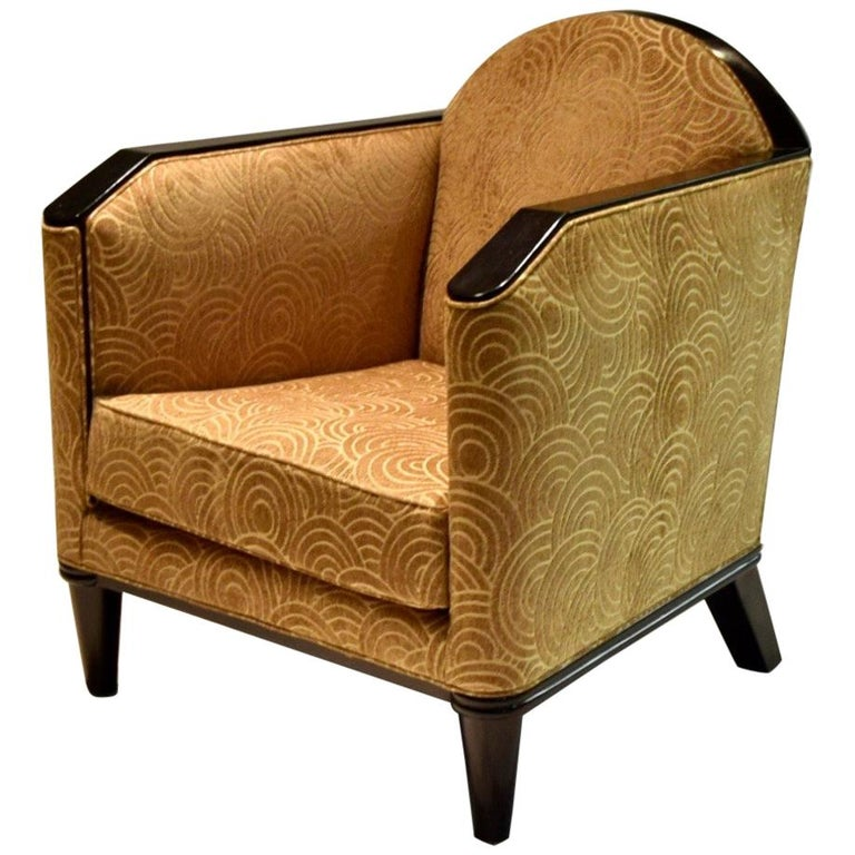 Deco Lounge Chair by Pierre Chareau, France, circa 1925