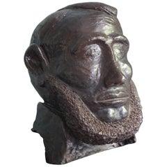 Abraham Lincoln Black Ceramic Head