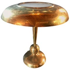 Oscar Torlasco Solid Brass Table Lamp, Italy, 1950s