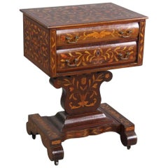 Dutch Empire Marquetry Stand in Mahogany and Fruitwood, circa 1840