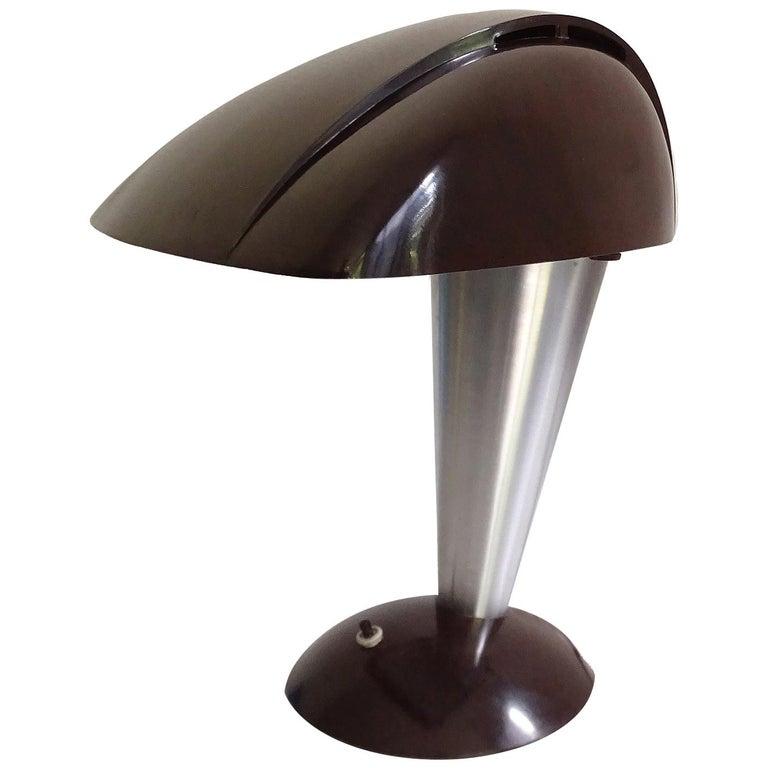 Art Deco Modernist Polaroid Desk Lamp, 1930s, Gio Ponti Era
