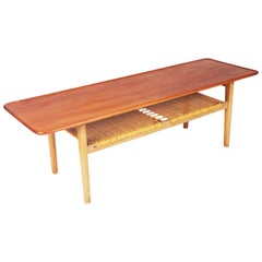 Coffee Table AT-10 in Teak by Hans J Wegner for Andreas Tuck, Denmark