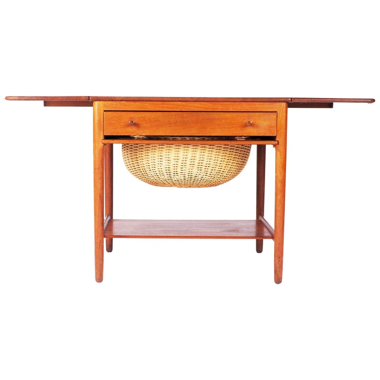 Sewing table AT-33 by Hans J Wegner made by Andreas Tuck, Denmark