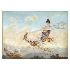 Large Late 19th Century Painting Depicting Spring