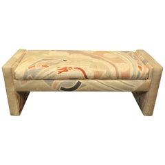 1980s Pop Art Memphis Style Upholstered Bench