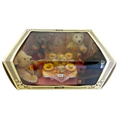 Steiff 4 Teddy Bear Tea Party Set, German, circa 1982