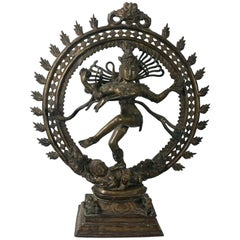 Monumental Shiva Hindu Bronze Sculpture