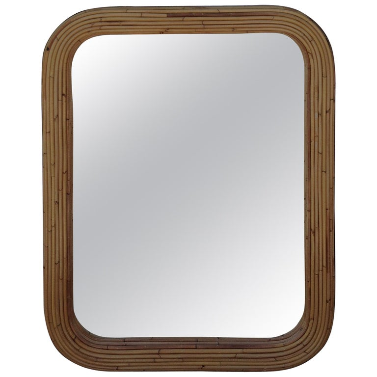 Midcentury Pencil Reed Mirror