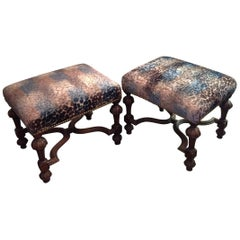 Pair of Fine English Benches