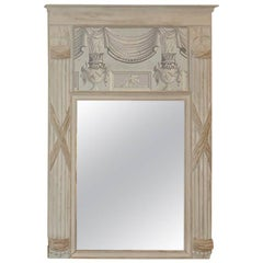 Late 19th Century, Italian Mirror in Grays and Whites, circa 1890