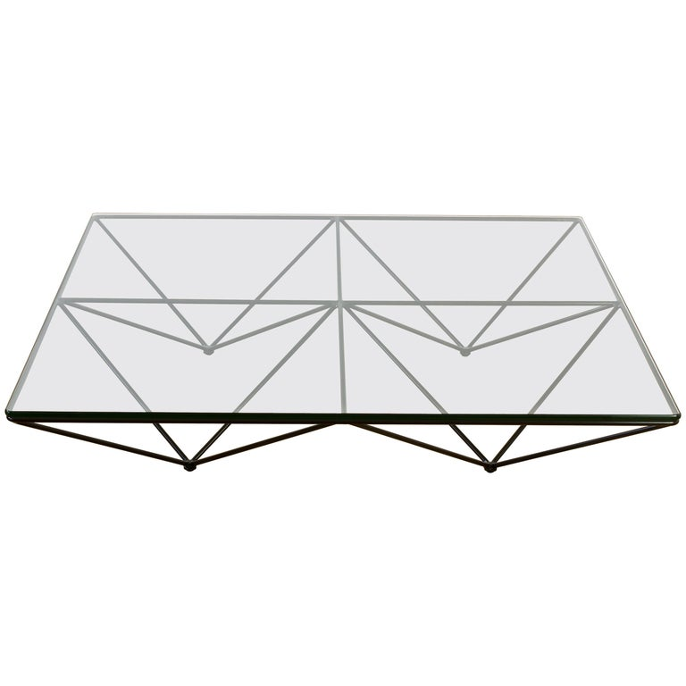Paolo Piva 'Alanda' Low Glass Coffee Table for B&B Italia, 1982