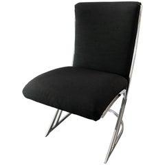Pierre Cardin Mid-Century Modern Chrome Z Chairs Set of Eight