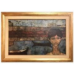 Midcentury Oil Painting Signed Leonardo Papasogli