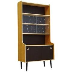 Bookcase with Glass Danish Design Midcentury