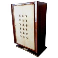 Paolo Buffa, Italian Mid-Century Modern Wooden Bar Cabinet, 1950s
