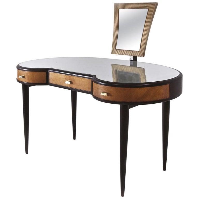 Osvaldo Borsani, Italian Mid-Century Modern Dresser in Wood with Mirror, 1950s