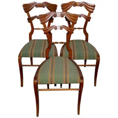 Set of Three Antique Empire Side Chairs, 19th Century, Biedermeier