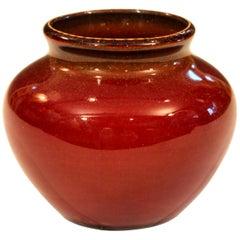 Vintage Kenton Hills KY Kentucky Oxblood Gold Flecked Southern Folk Pottery Vase