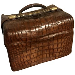 Gorgeous Edwardian Crocodile leather Suitcase