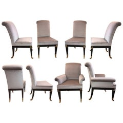 Suite of Eight Neoclassical Style Dining Room Chairs by Mastercraft