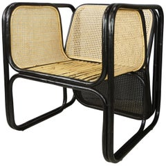 Design and Original Rattan and Wicker Lounge Armchair