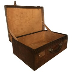 Gorgeous Edwardian Crocodile leather Suitcase