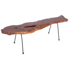 Wabi Sabi Style Coffee Table in Organic Walnut
