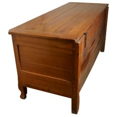 Large 19th Century French Cherry Coffer or Marriage Chest