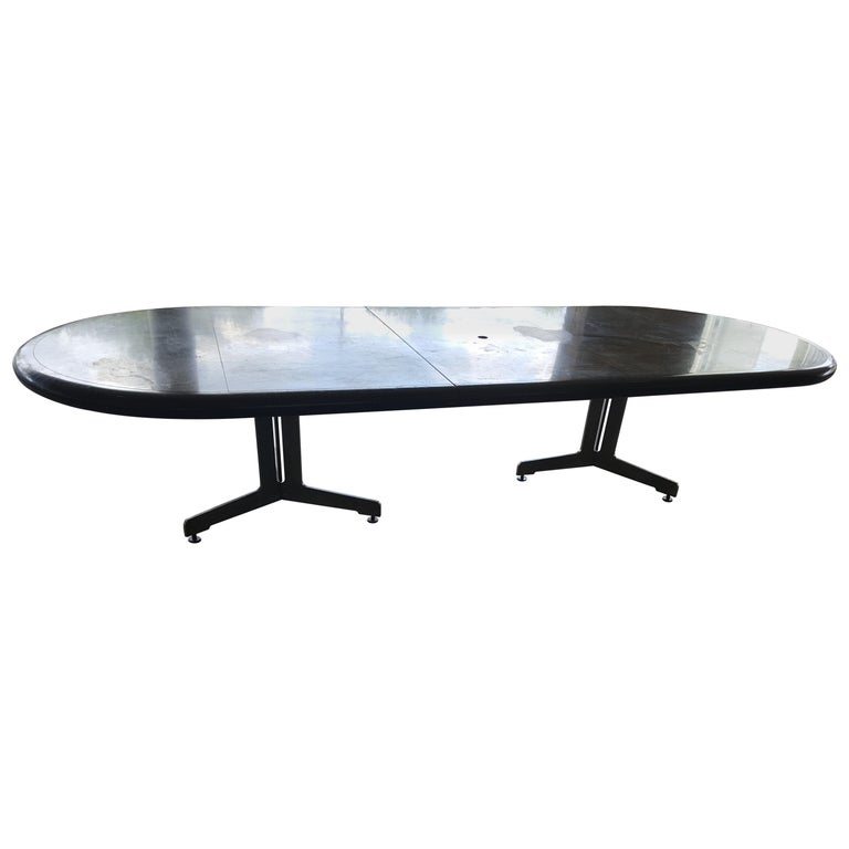Large Custom Made Burled Conference Table For Sale At Stdibs - Custom glass conference table