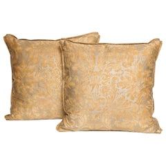 Pair of Fortuny Fabric Cushions in the Lucrezia Pattern