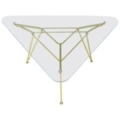 Maurizio Tempestini for Salterini Geometric Iron Table with Glass Top