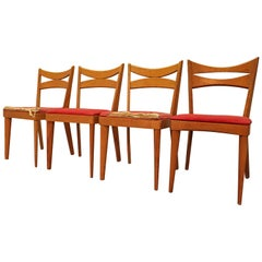 Set of Four Mid-Century Modern Heywood-Wakefield Cat's Eye Dining Chairs