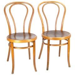 Pair of Viennese Chair Thonet Nr.18, circa 1900