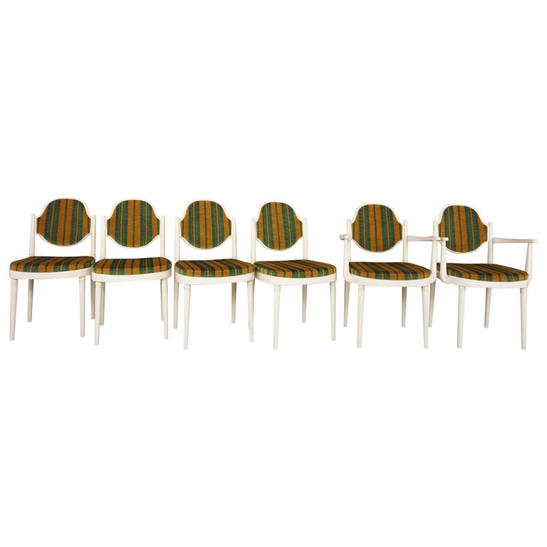 Seating Set of Six Bentwood Thonet Chairs Design Hanno Von Gustedt