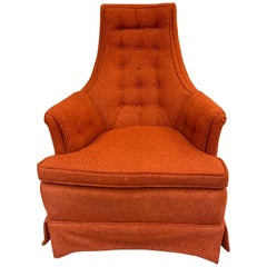 Adrian Pearsall Upholstered High Back Chair Armchair