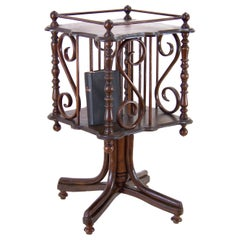 Art Nouveau Rotating Library Table in Thonet Style