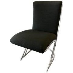 Pierre Cardin Mid-Century Modern Chrome Z Chairs Set of Four