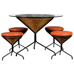 Danny Ho Fong Cafe Set with Table and Stools