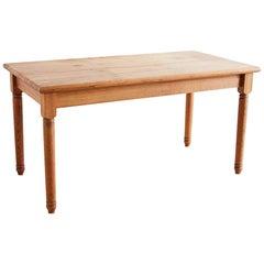 American Oak Butcher Block Style Farm Table