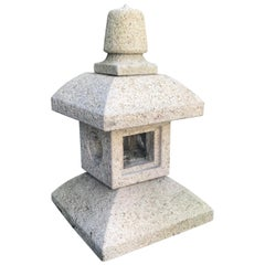Japan Tea Lantern Hand-Carved Granite Perfect Indoor or Outdoor