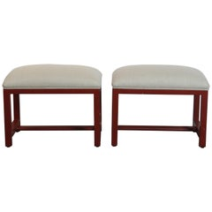 Pair of Red Bench