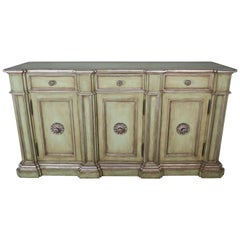 Italian Painted Neoclassical Style Painted and Credenza