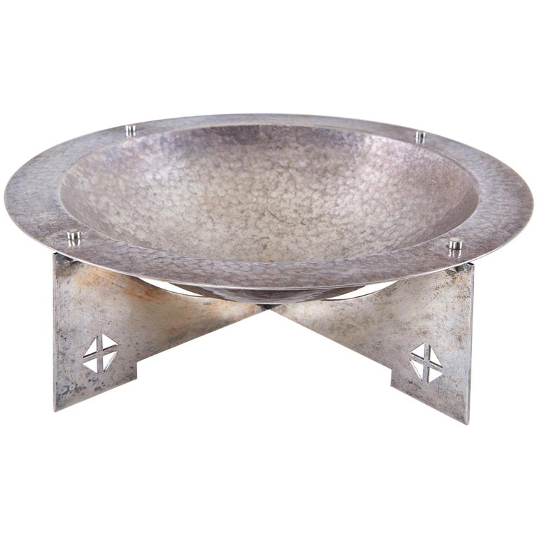 "Silver-Plated ""Courtney"" Bowl by Charles Gwathmey and Robert Siegel For Sale"