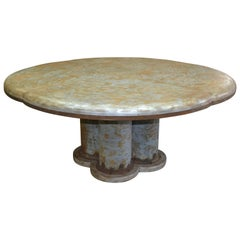 Galvanized Rust and Iron Dining Table