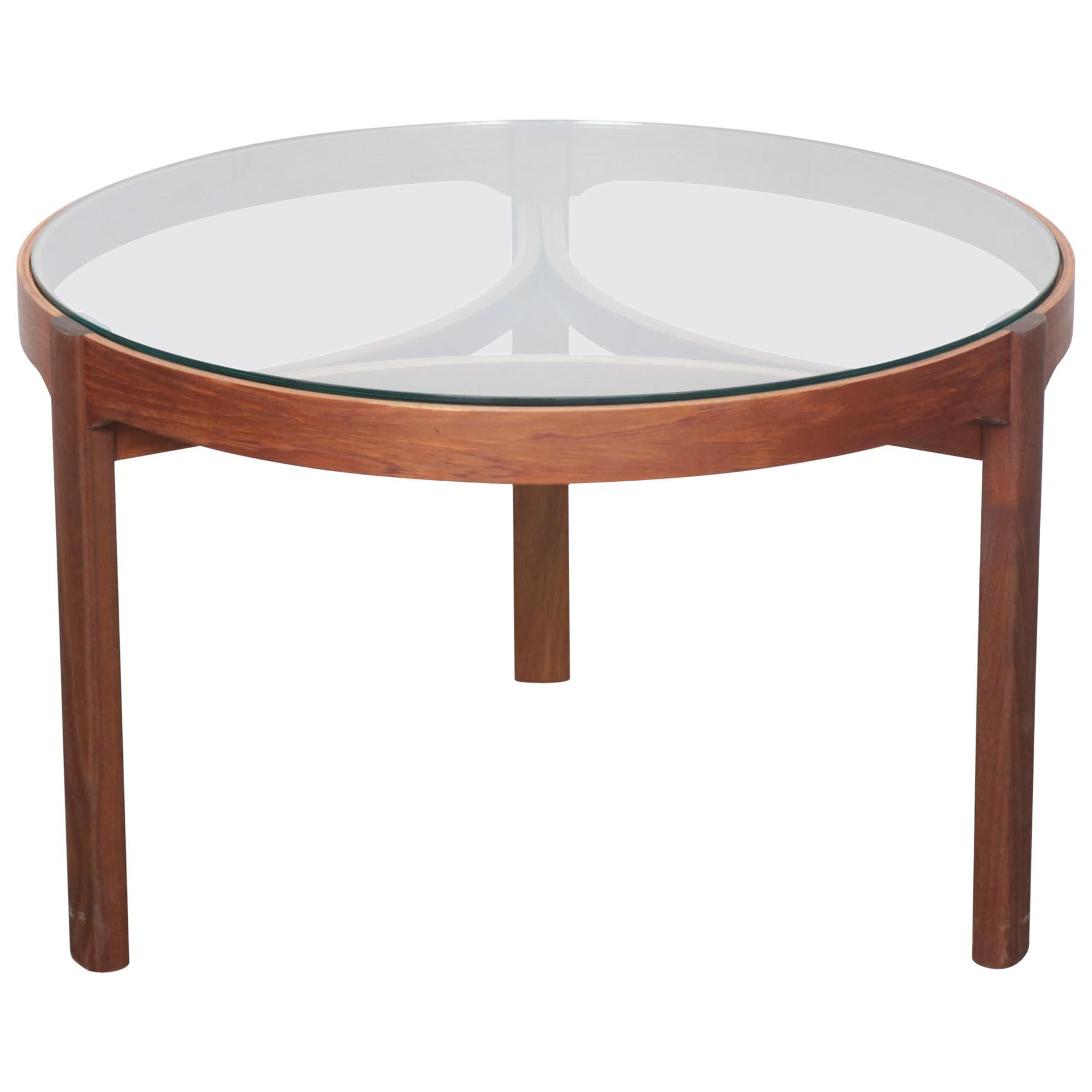 Superieur Teak And Glass Top Round Coffee Table By Nathan, England For Sale