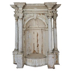 Early 19th Century Painted Alter Piece