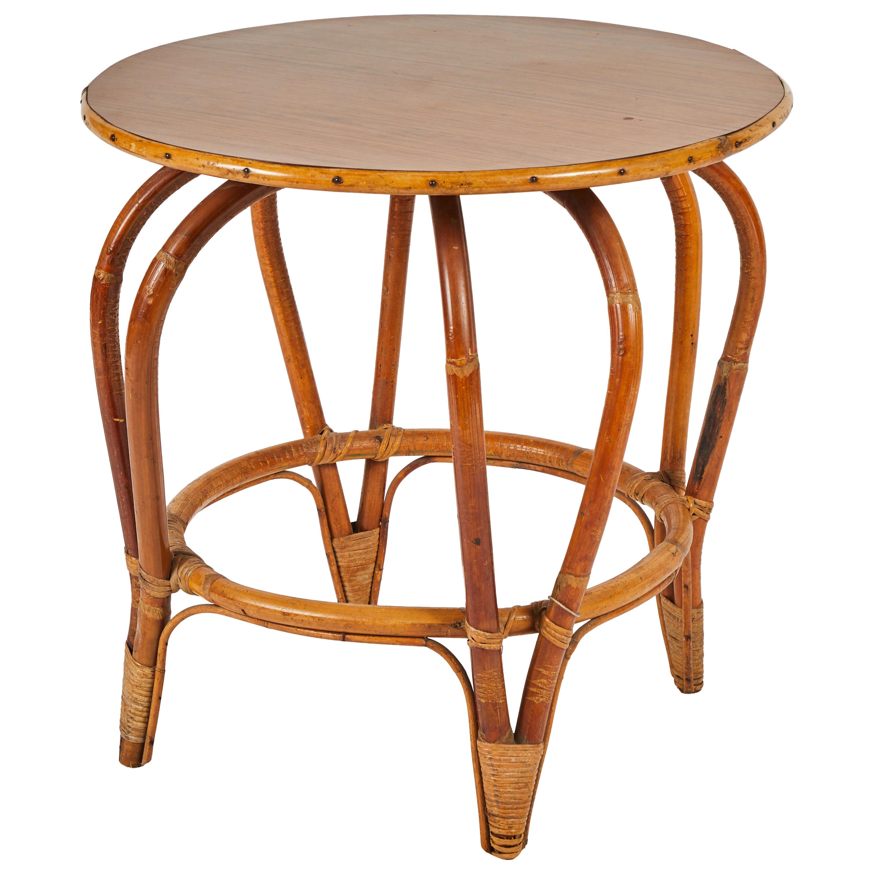 Gentil Round Rattan Side Or Coffee Table