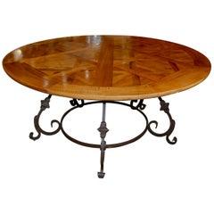 Exceptional Antique Parquet de Versailles Handmade Dining Table