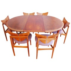 Butterfly Set Chairs and Table by Kurt Østervig Walnut Wood